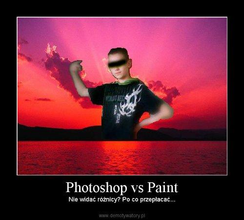 Photoshop vs Paint