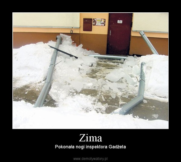 Zima – Pokonała nogi inspektora Gadżeta