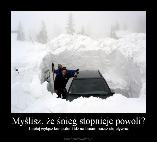 Myślisz, że śnieg stopnieje powoli? –  Lepiej wyłącz komputer i idź na basen naucz się pływać.