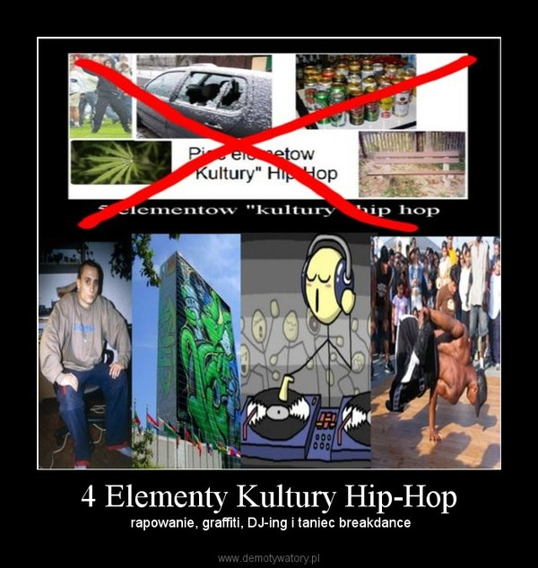 4 Elementy Kultury Hip-Hop –  rapowanie, graffiti, DJ-ing i taniec breakdance