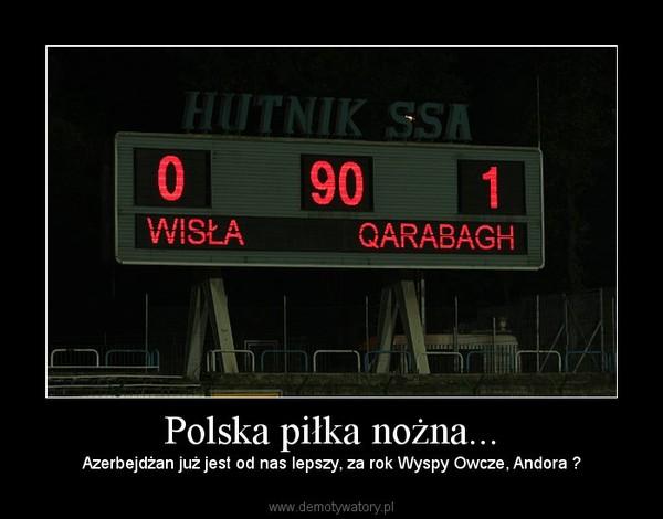 Polska piłka nożna... – Azerbejdżan już jest od nas lepszy, za rok Wyspy Owcze, Andora ?
