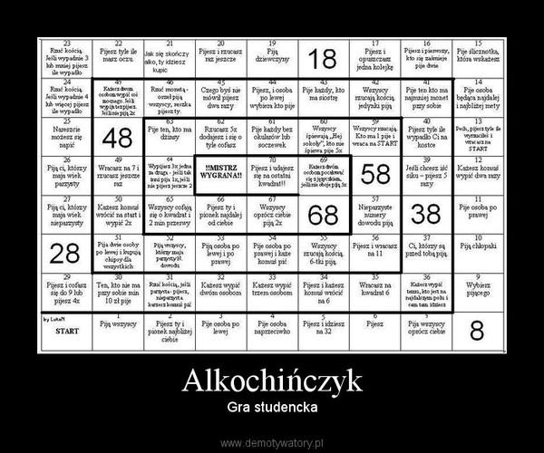 Alkochińczyk –  Gra studencka