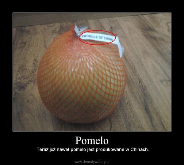Pomelo – Teraz już nawet pomelo jest produkowane w Chinach.