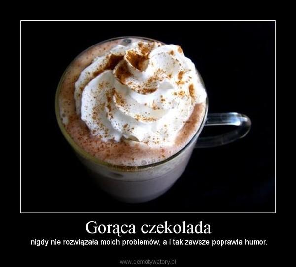 Gorąca czekolada – nigdy nie rozwiązała moich problemów, a i tak zawsze poprawia humor.