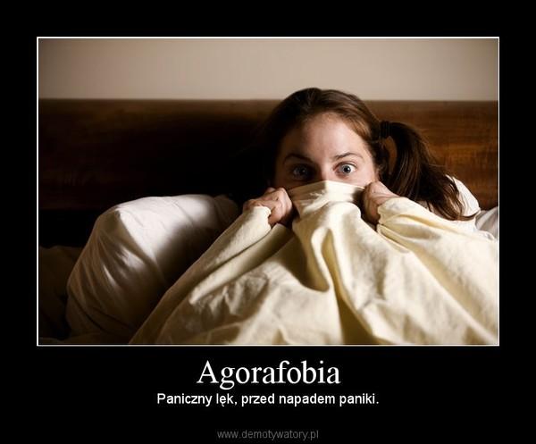 Agorafobia – Paniczny lęk, przed napadem paniki.