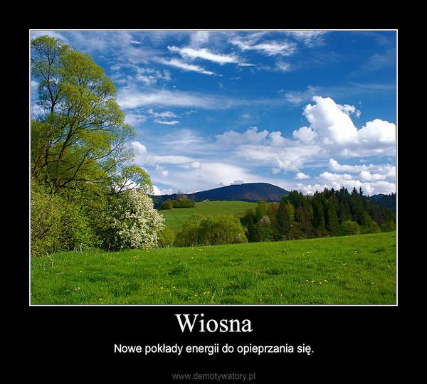 Wiosna – Nowe pokłady energii do opieprzania się.