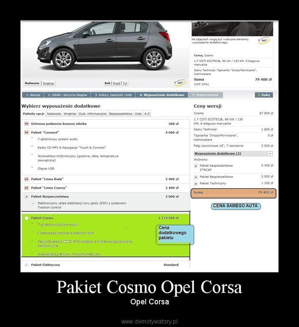 Pakiet Cosmo Opel Corsa – Opel Corsa
