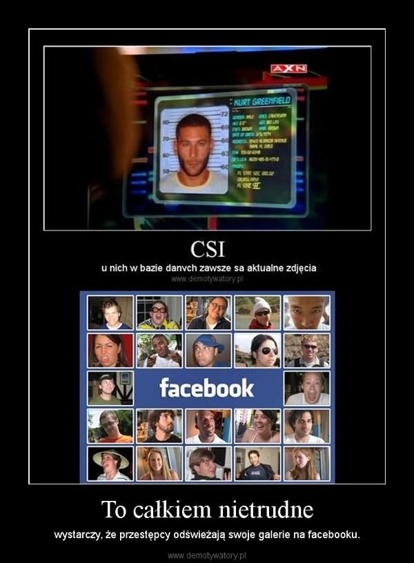 To całkiem nietrudne – wystarczy, że przestępcy odświeżają swoje galerie na facebooku.