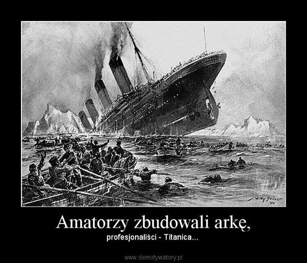 Amatorzy zbudowali arkę, – profesjonaliści - Titanica...