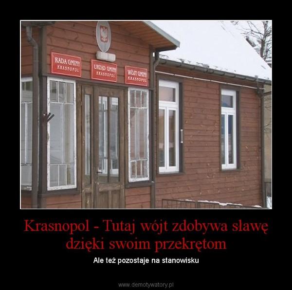 Krasnopol - Tutaj wójt zdobywa sławę dzięki swoim przekrętom – Ale też pozostaje na stanowisku