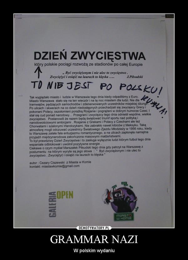 GRAMMAR NAZI – W polskim wydaniu