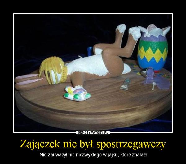 Zajączek nie był spostrzegawczy – Nie zauważył nic niezwykłego w jajku, które znalazł