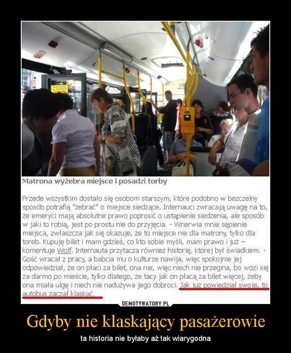 Gdyby nie klaskający pasażerowie – ta historia nie byłaby aż tak wiarygodna