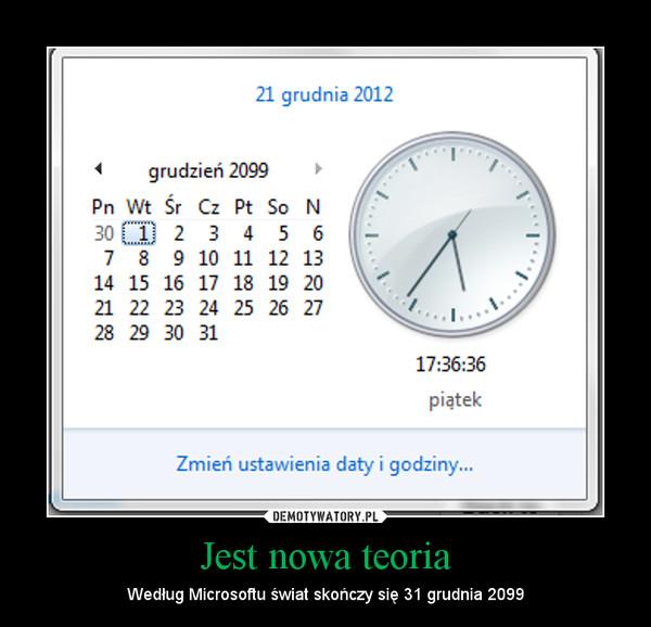 Jest nowa teoria – Według Microsoftu świat skończy się 31 grudnia 2099