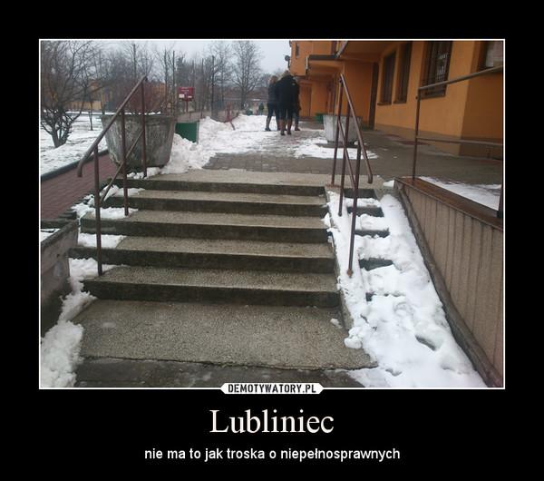 Lubliniec – nie ma to jak troska o niepełnosprawnych
