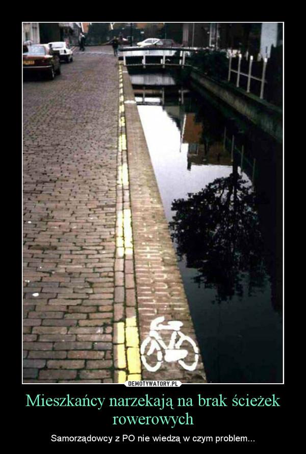 Mieszkańcy narzekają na brak ścieżek rowerowych – Samorządowcy z PO nie wiedzą w czym problem...