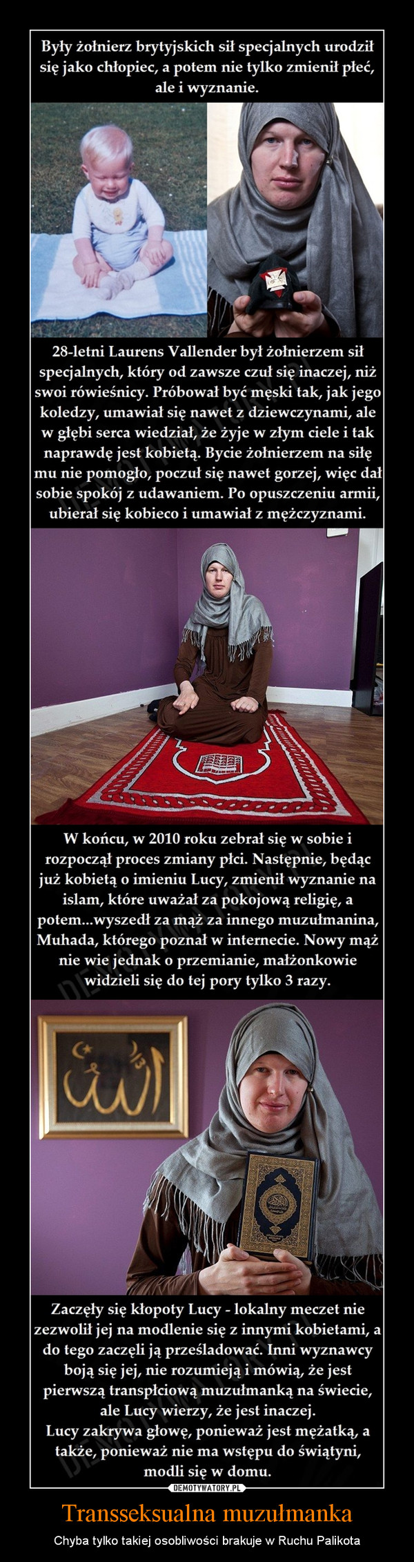 Transseksualna muzułmanka – Chyba tylko takiej osobliwości brakuje w Ruchu Palikota