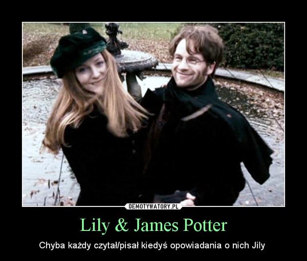 Lily & James Potter – Chyba każdy czytał/pisał kiedyś opowiadania o nich Jily