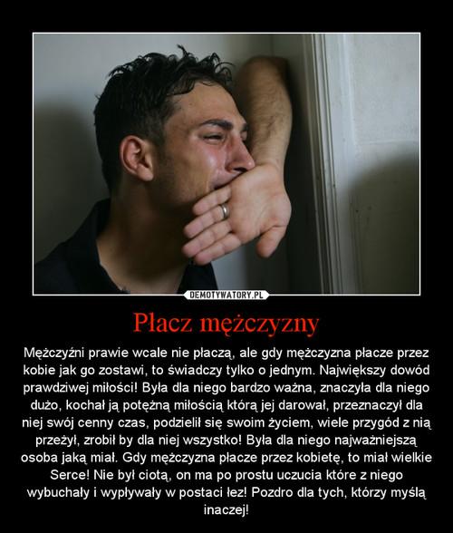 Płacz mężczyzny