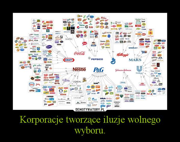 Korporacje tworzące iluzje wolnego wyboru. –
