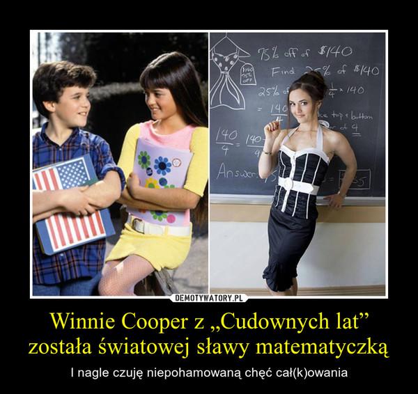 """Winnie Cooper z """"Cudownych lat"""" została światowej sławy matematyczką – I nagle czuję niepohamowaną chęć cał(k)owania"""