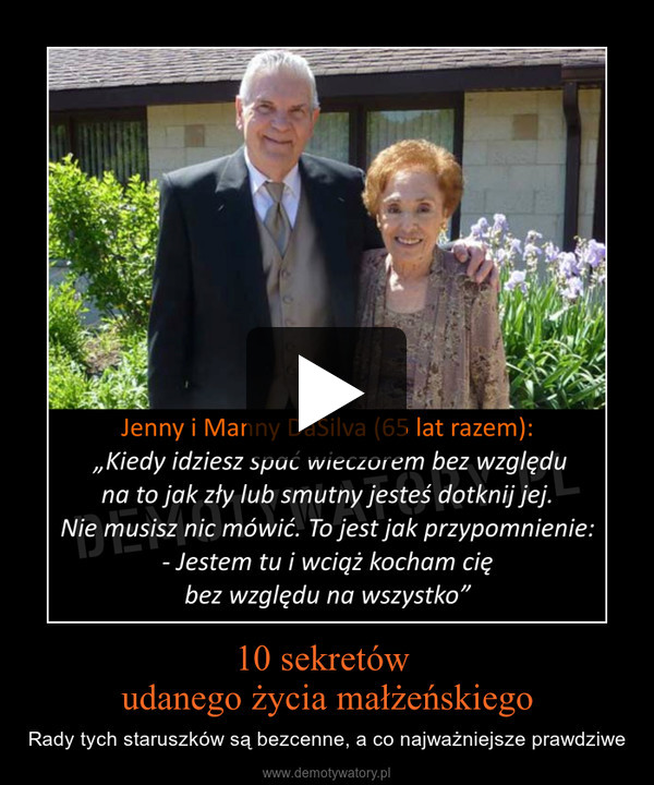 10 sekretów udanego życia małżeńskiego – Rady tych staruszków są bezcenne, a co najważniejsze prawdziwe