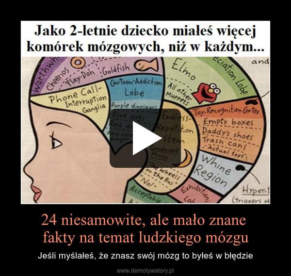 24 niesamowite, ale mało znane fakty na temat ludzkiego mózgu – Jeśli myślałeś, że znasz swój mózg to byłeś w błędzie