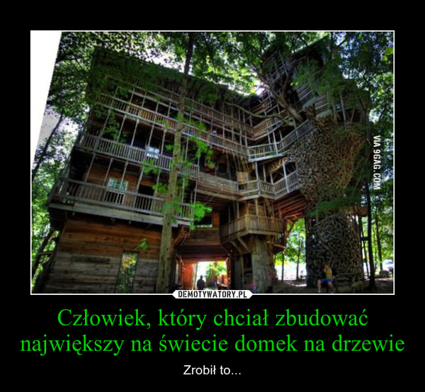 Człowiek, który chciał zbudować największy na świecie domek na drzewie – Zrobił to...