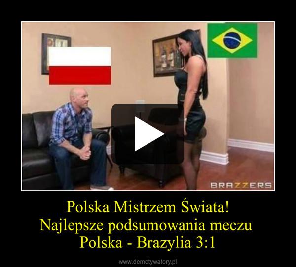 Polska Mistrzem Świata! Najlepsze podsumowania meczu  Polska - Brazylia 3:1 –