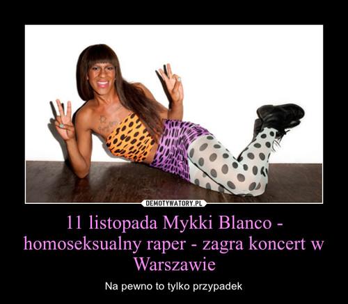 11 listopada Mykki Blanco - homoseksualny raper - zagra koncert w Warszawie