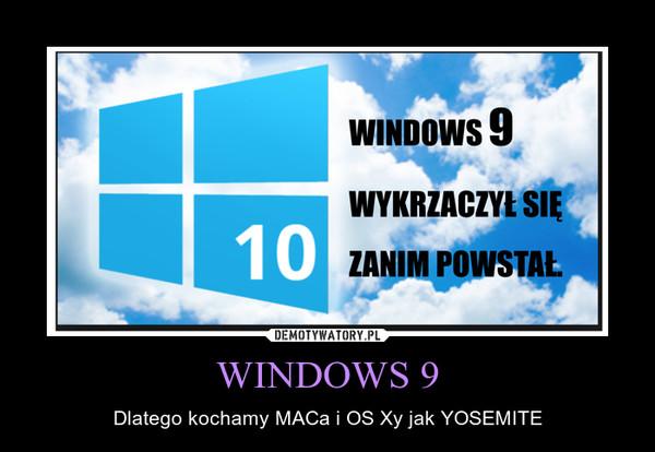 WINDOWS 9 – Dlatego kochamy MACa i OS Xy jak YOSEMITE