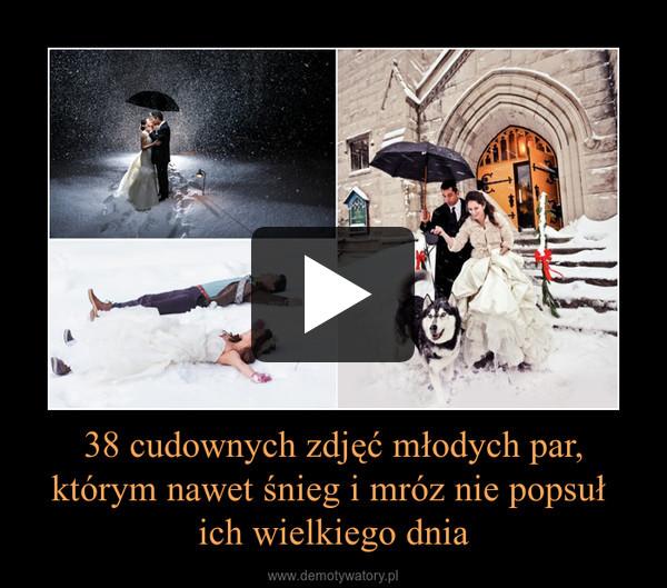 38 cudownych zdjęć młodych par, którym nawet śnieg i mróz nie popsuł ich wielkiego dnia –