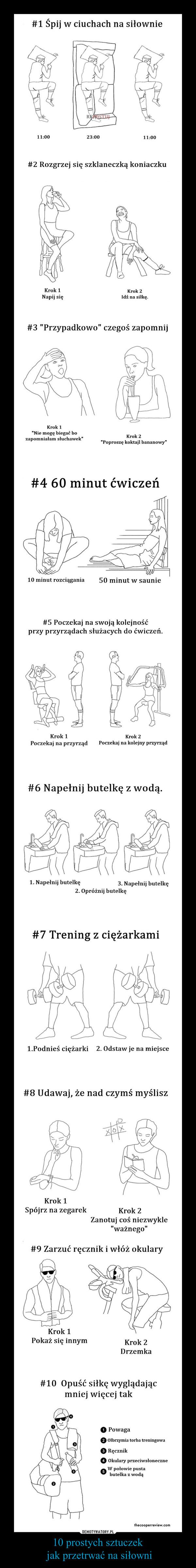 10 prostych sztuczek jak przetrwać na siłowni –