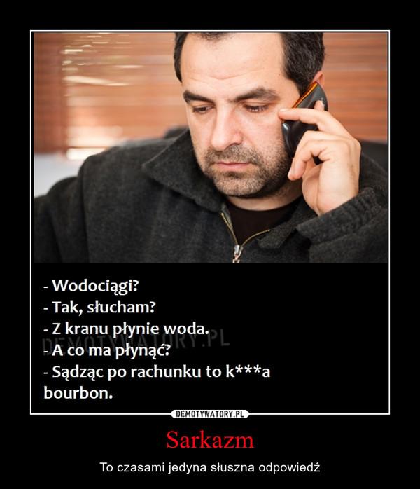 Sarkazm – To czasami jedyna słuszna odpowiedź