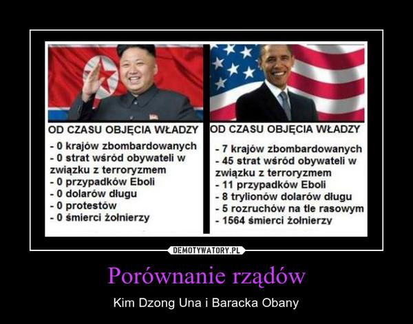 Porównanie rządów – Kim Dzong Una i Baracka Obany