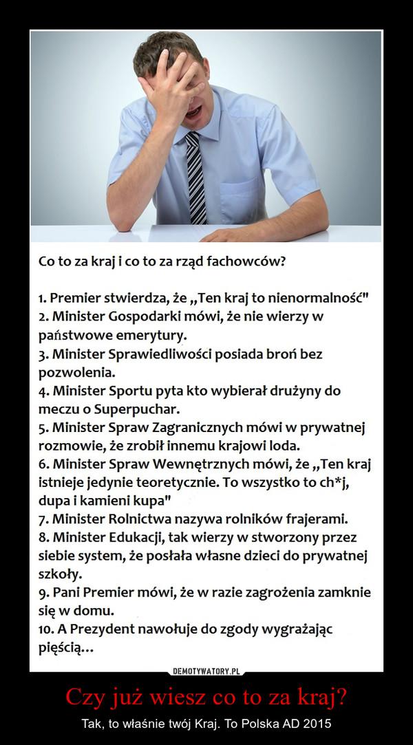 Czy już wiesz co to za kraj? – Tak, to właśnie twój Kraj. To Polska AD 2015