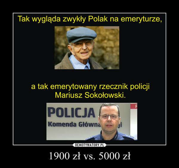 1900 zł vs. 5000 zł –