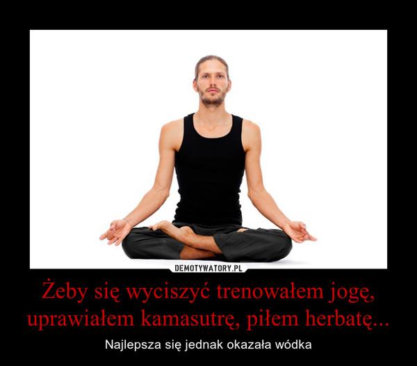 Żeby się wyciszyć trenowałem jogę, uprawiałem kamasutrę, piłem herbatę... – Najlepsza się jednak okazała wódka