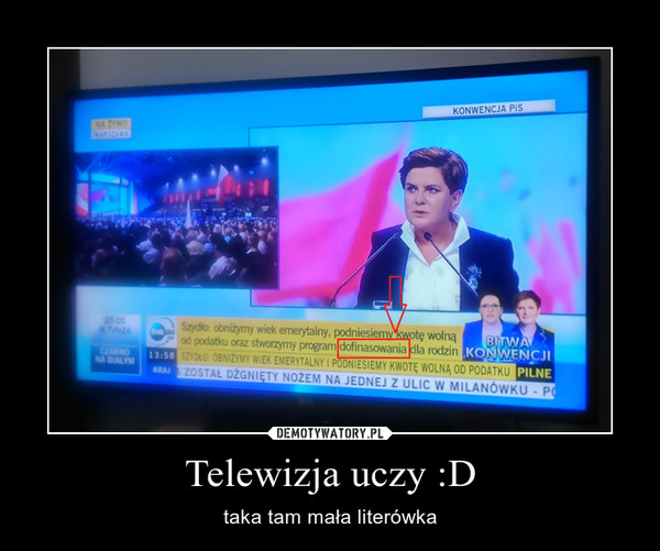 Telewizja uczy :D – taka tam mała literówka