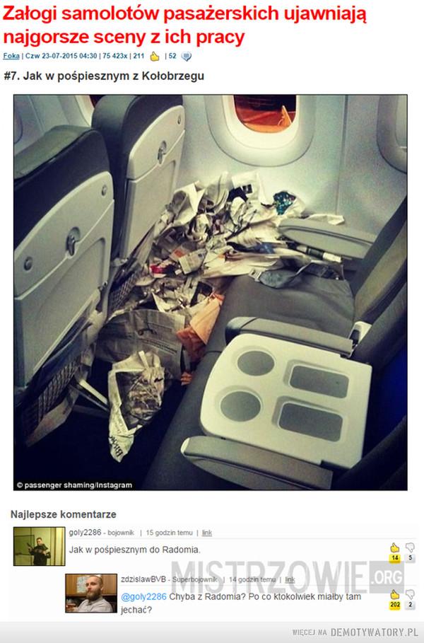 To w radomiu macie autostrady dla samolotów ? –