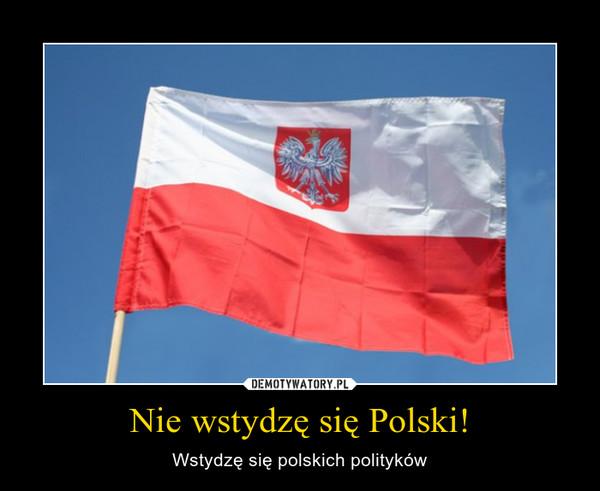 Nie wstydzę się Polski! – Wstydzę się polskich polityków