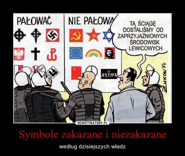 Symbole zakazane i niezakazane – według dzisiejszych władz PałowaćNie pałowaćTĄ ŚCIĄGĘ DOSTALIŚMY OD ZAPRZYJAŹNIONYCH ŚRODOWISK LEWICOWYCH.