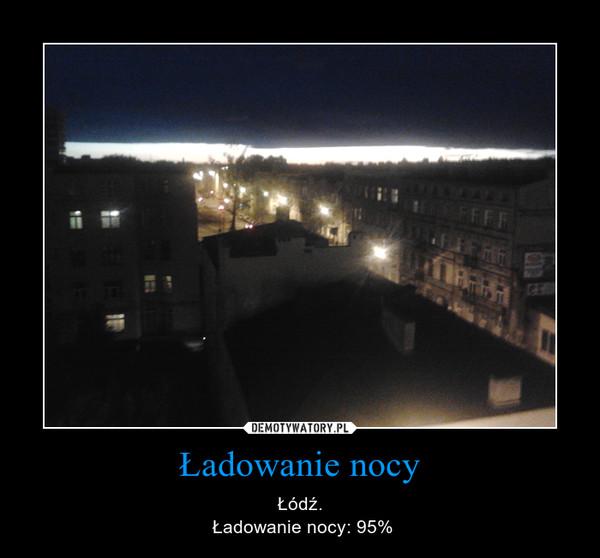 Ładowanie nocy – Łódź. Ładowanie nocy: 95%