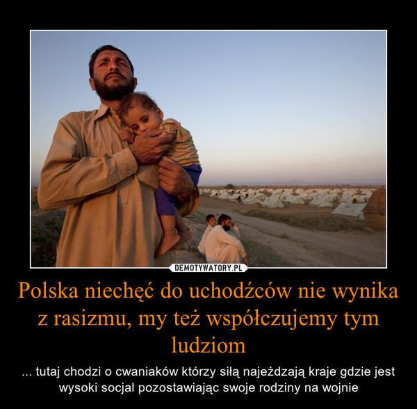 Polska niechęć do uchodźców nie wynika z rasizmu, my też współczujemy tym ludziom – ... tutaj chodzi o cwaniaków którzy siłą najeżdzają kraje gdzie jest wysoki socjal pozostawiając swoje rodziny na wojnie
