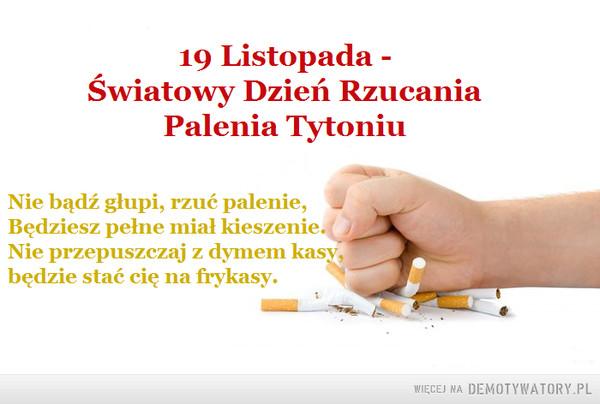 Warto rzucić palenie –