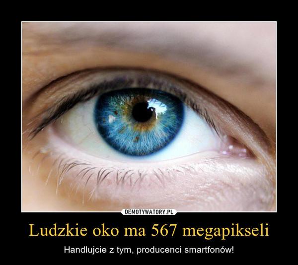 Ludzkie oko ma 567 megapikseli – Handlujcie z tym, producenci smartfonów!