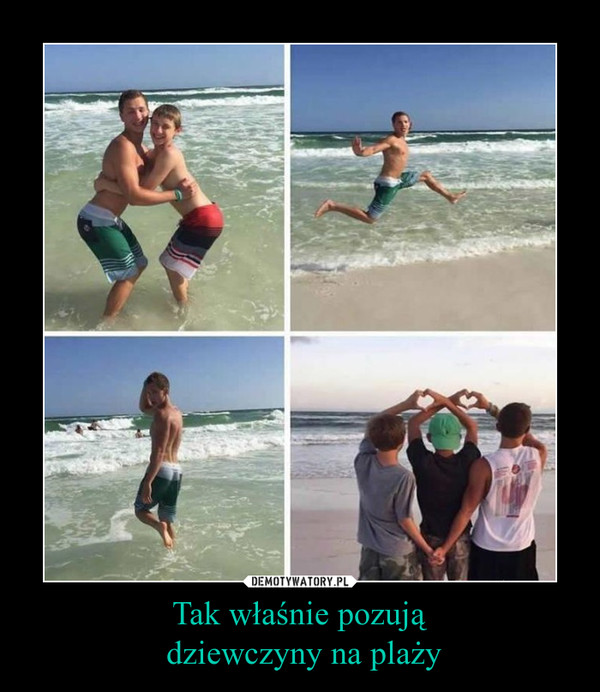 Tak właśnie pozują dziewczyny na plaży –