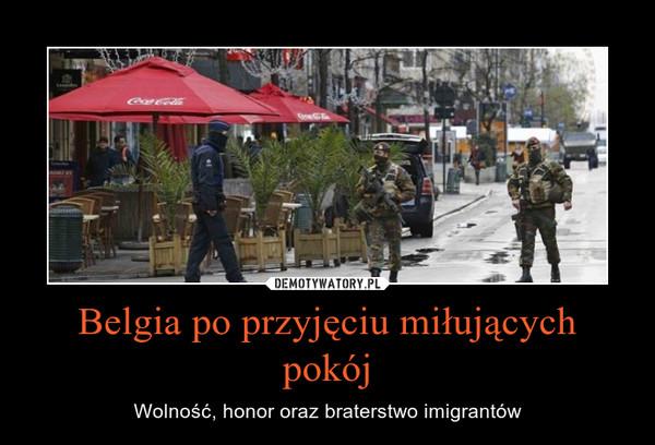 Belgia po przyjęciu miłujących pokój – Wolność, honor oraz braterstwo imigrantów