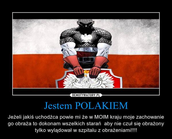 Jestem POLAKIEM – Jeżeli jakiś uchodźca powie mi że w MOIM kraju moje zachowanie go obraża to dokonam wszelkich starań  aby nie czuł się obrażony tylko wylądował w szpitalu z obrażeniami!!!!