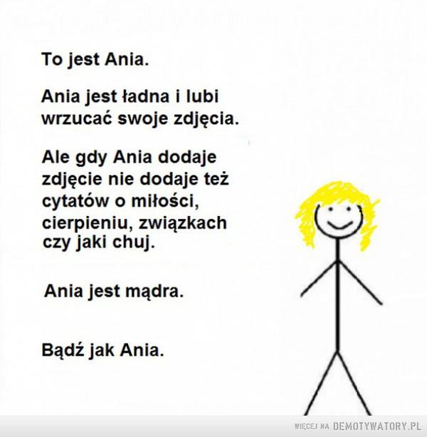 Bądź jak Ania –